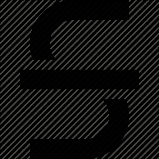 Strike, Text, Through Icon