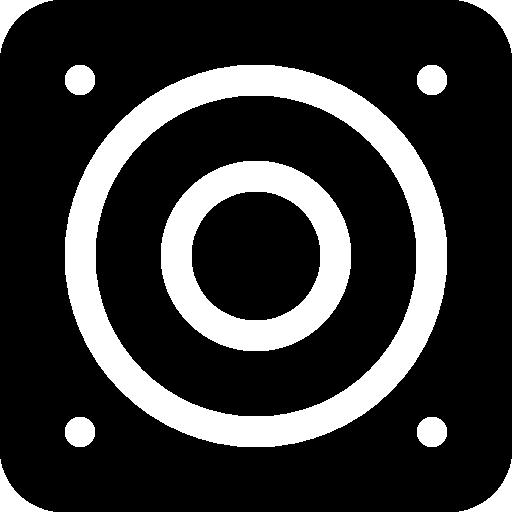 Music Square Frontal Speaker Amplifying Tool Symbol Icons Free