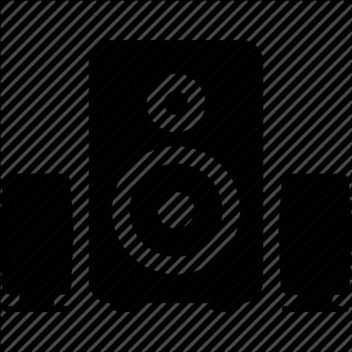 Audio, Music, Sound, Speaker, Speakers, Subwoofer Icon