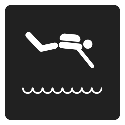 Swimming Square Icon Swimming