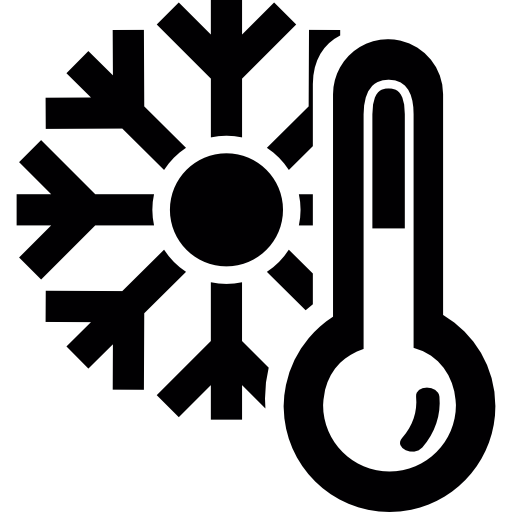 Thermometer And A Snowflake, Cold Winter Weather Symbol Icons