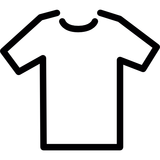 T Shirt Model Outline In White Icons Free Download