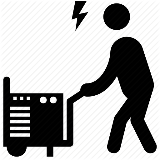 Carrying Generator, Electrician, Generator, Laundry, Pictogram Icon