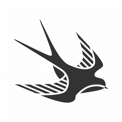 Animal, Bird, Body Art, Flying, Ink, Swallow, Tattoo Icon