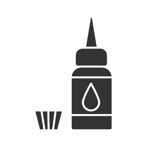 Bottle, Cap, Drop, Ink, Paint, Tattoo, Tattooing Icon