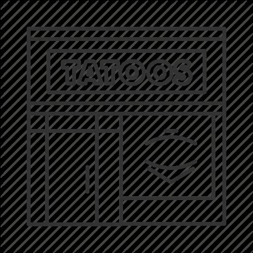 Piercing, Salon, Shop, Store, Studio, Tattoo, Tattooing Icon