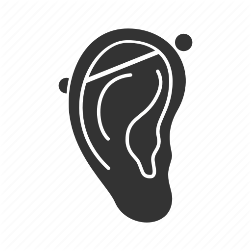 Body, Cartilage, Crossbar, Ear, Earring, Pierced, Piercing Icon