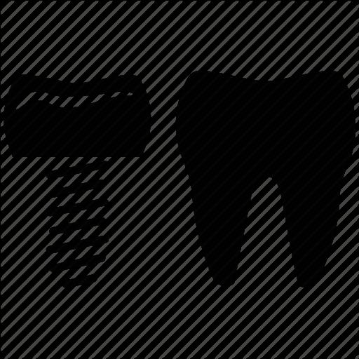 Dental Care, Dental Implant, Dental Therapy, Dental Treatment Icon