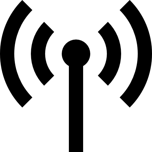 Antenna With Signal Transmission Icons Free Download
