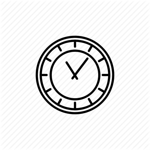 Clock, Hour, Minutes, Ticker, Time, Watch Icon