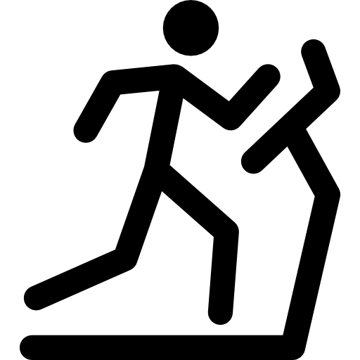 Stick Man Running On A Treadmill Icons Free Download