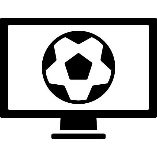 Soccer World Competition Program On Tv Monitor Screen Icons Free