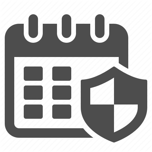 Appointment, Calendar, Protection, Schedule, Shield Icon