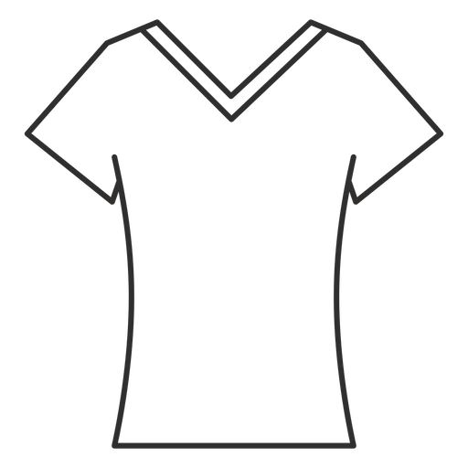 Scoop V Neck T Shirt Stroke Icon