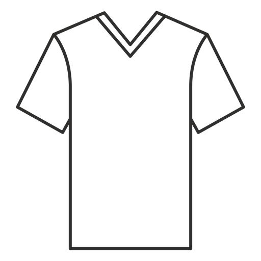 V Neck T Shirt Stroke Icon