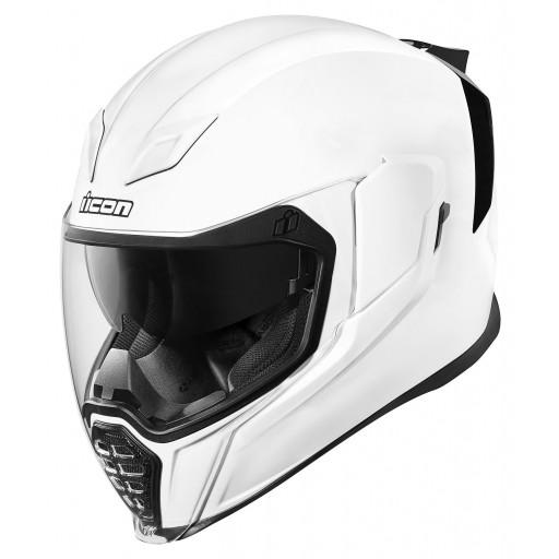 Icon Airflite Gloss White Motorcycle Helmet Quad Bikes Wales Online