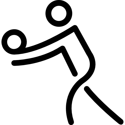 Volleyball Stick Man Practicing Sport Icons Free Download