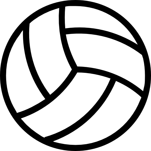 Volleyball Ball Outline Icons Free Download