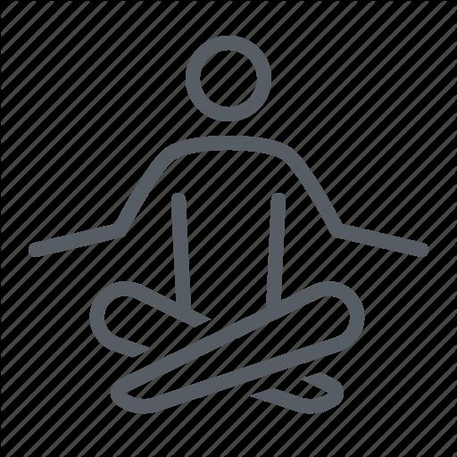 People, Relax, Sport, Wellness, Yoga Icon