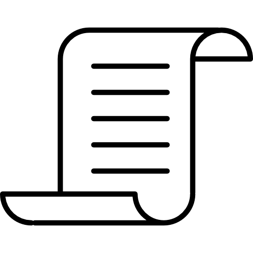 Paper With Text And Curved Upper And Bottom Borders Icons Free