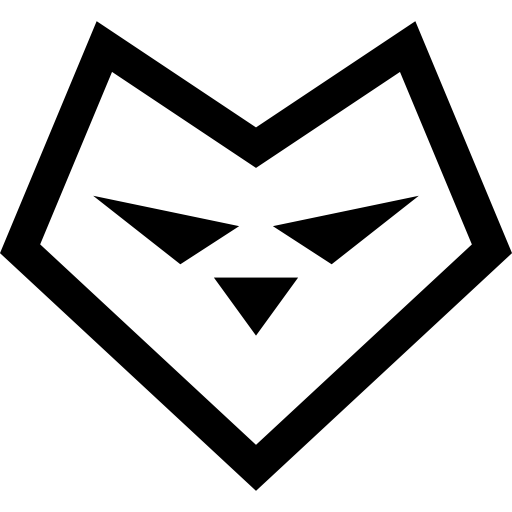 Heart Shaped Wolf Face Icons Free Download