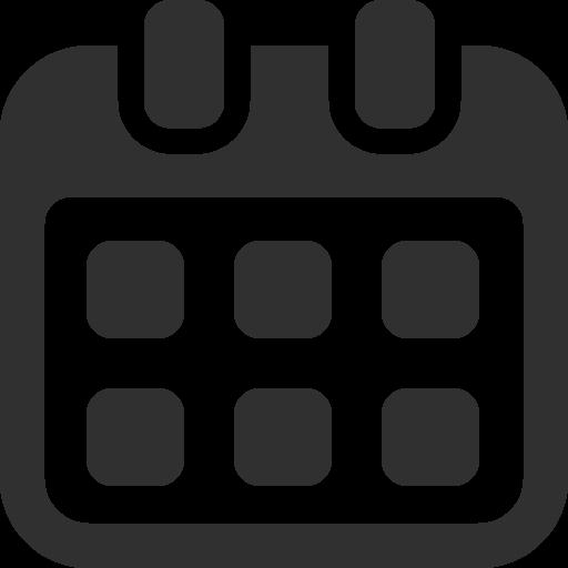 Calendar Icon Mono Business Iconset Custom Icon Design