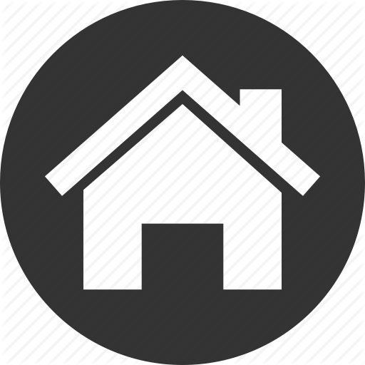 White House And Round Black Icon Images