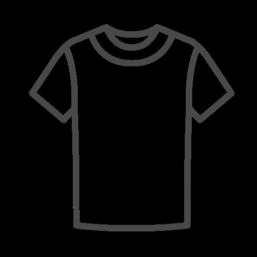 T, Shirt Gratuit De Clothing Icons Stroke
