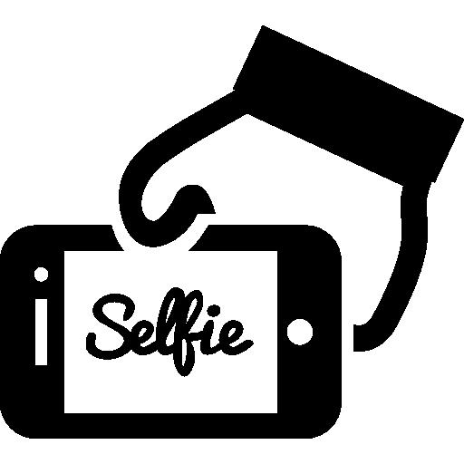 Selfie Word On Phone Screen In A Hand