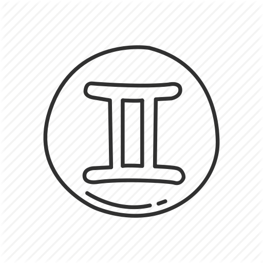 Emoji, Gemini, Gemini Symbol, Sign, Squared Gemini, Zodiac, Zodiac