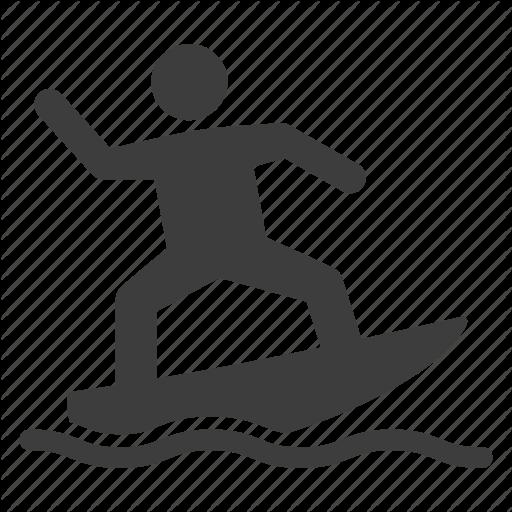 Sport, Surf, Surfboard, Surfer, Surfing Icon