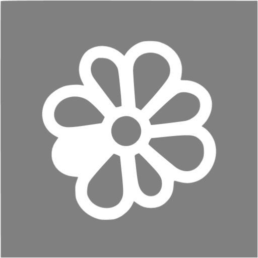 Gray Icq Icon