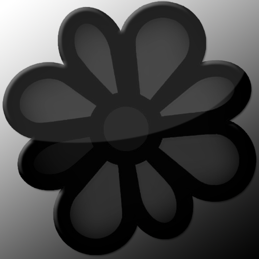 Icq Dock Icon Black And Grey