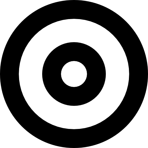 Target Symbol With Two Concentric Circles Icons Free Download