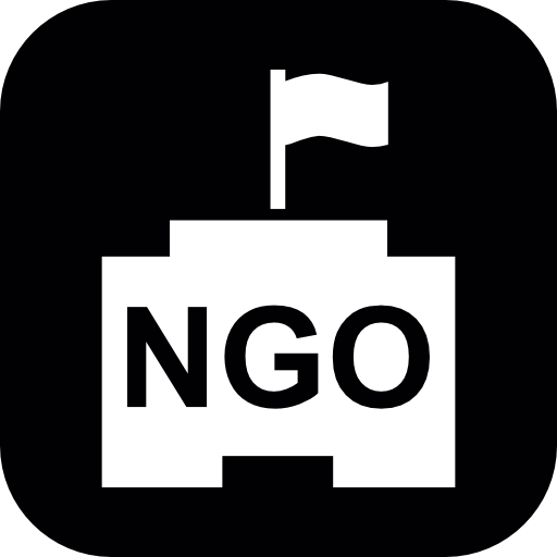 Ngo Building In A Rounded Square Icons Free Download