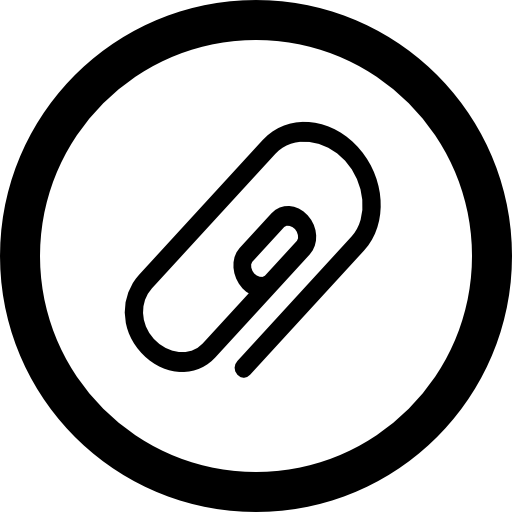 Attach Symbol Of Oblique Paperclip In Circular Button Of Interface