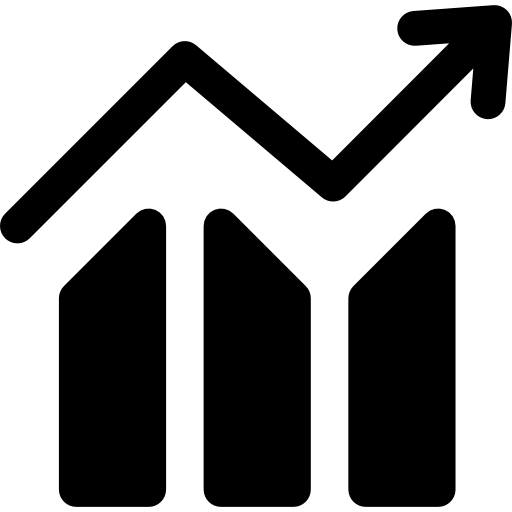 Increasing Chart Icons Free Download