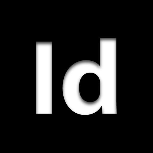 Black Indesign Logo Icon