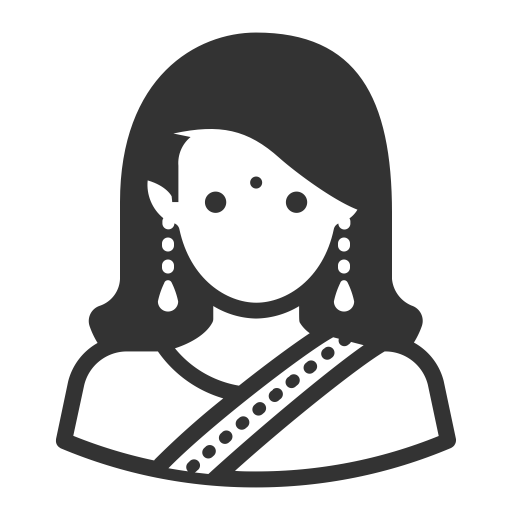 Glyph Avatar Indian Woman Long Hair, Indian, Linga Icon Png