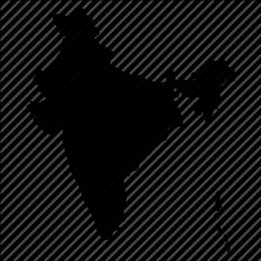 India, India Icon, India Map Icon