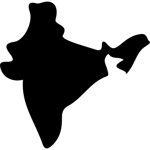 India Country Map Black Shape Icons Free Download