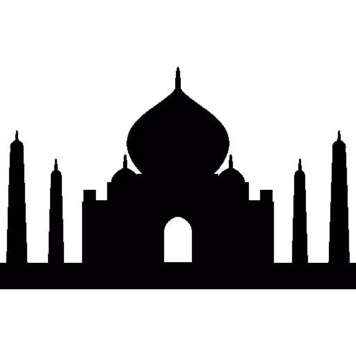 Taj Mahal In India Icons Free Download