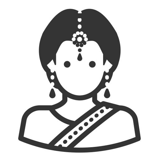 Glyph Avatar Indian Bengali Woman, Indian, Linga Icon Png