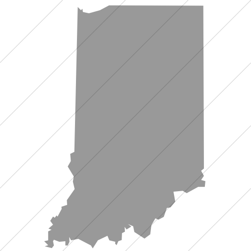 Simple Light Gray Us States Indiana Icon