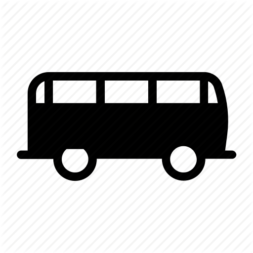 Bus, Camper, Indie, Mini, Retro, Van, Vintage Icon