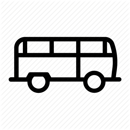 Bus, Camper, Indie, Mini, Retro, Van Icon