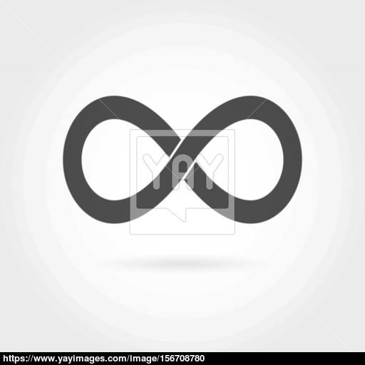 Infinity Icon Simple Mathematical Sign Isolated On White Vector