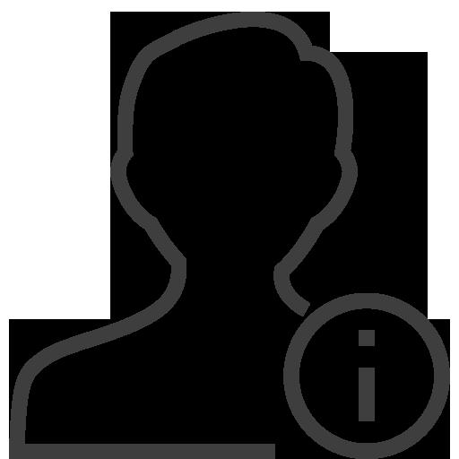 User Man Info Icon Silky Line User Iconset Custom Icon Design