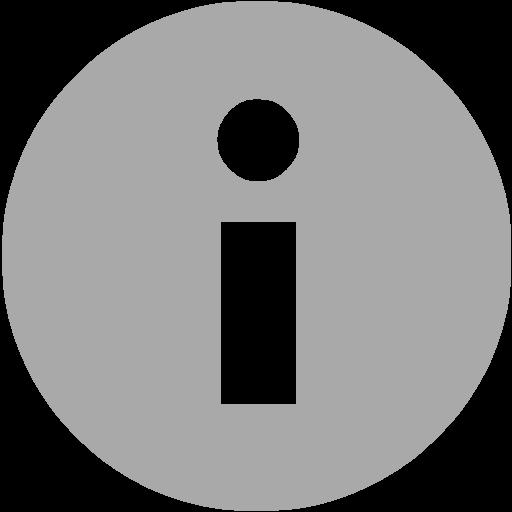Dark Gray Info Icon