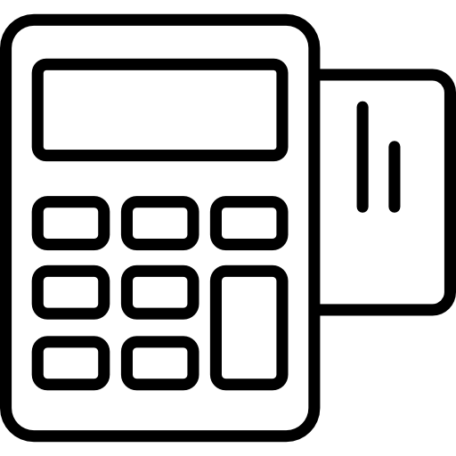 Calculate, Tools And Utensils, Calculator, Outline, Outlined, Tool